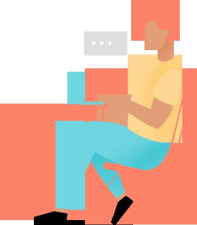 Ilustración terapia online
